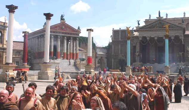 Still shot from HBO TV series Rome