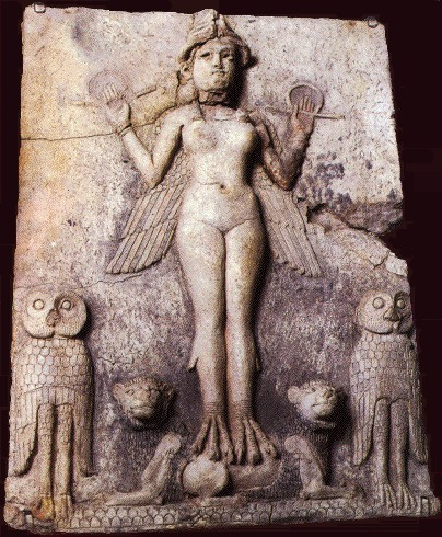 20 centuries before Christ, Mesopotamians carved this clay plaque of the goddess Lilith